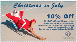 Christmas in July Coupon